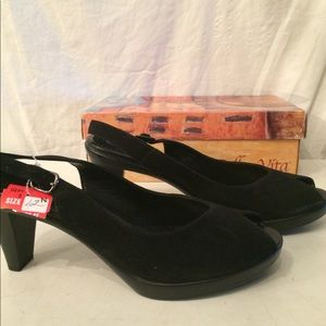 Bella vita black suede sling backs 12
